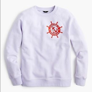JCREW Portami a Positano Raglan Sweatshirt L1620
